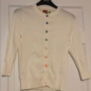 Women's cardigan with rainbow buttons 🌈